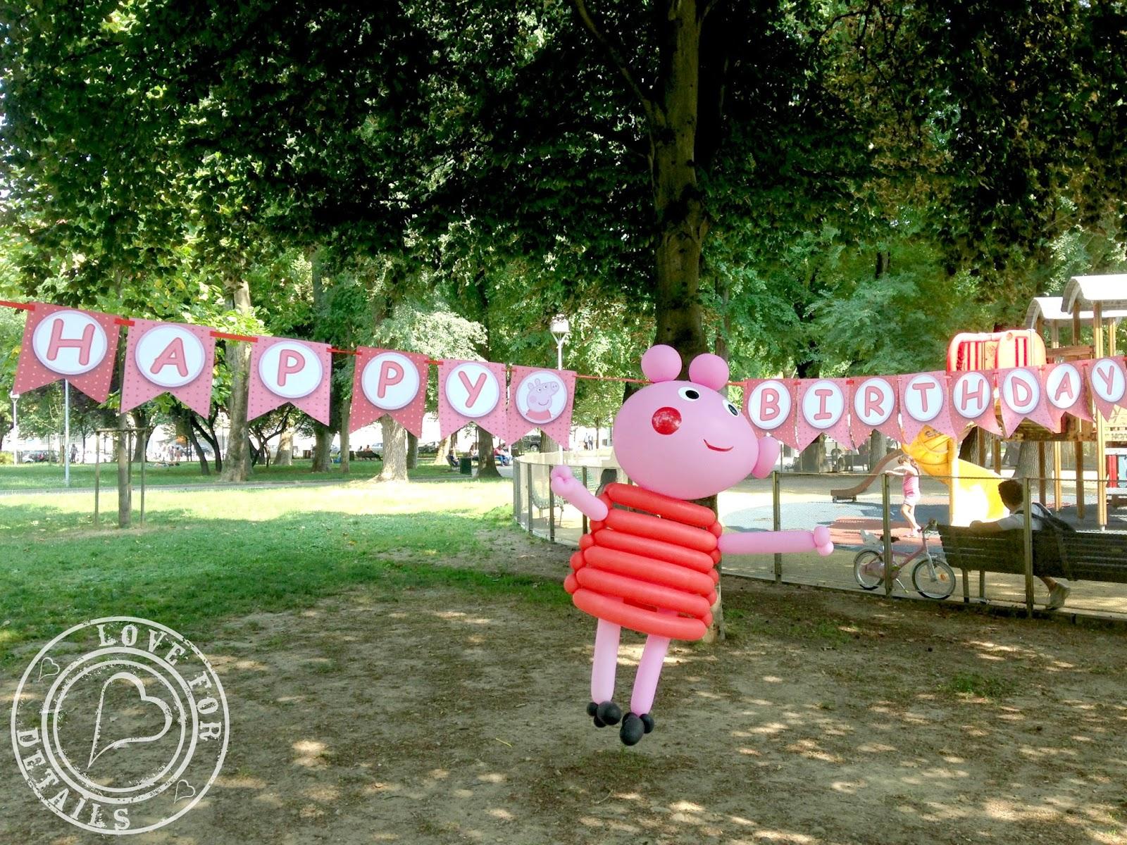 peppa pig ghirlanda compleanno