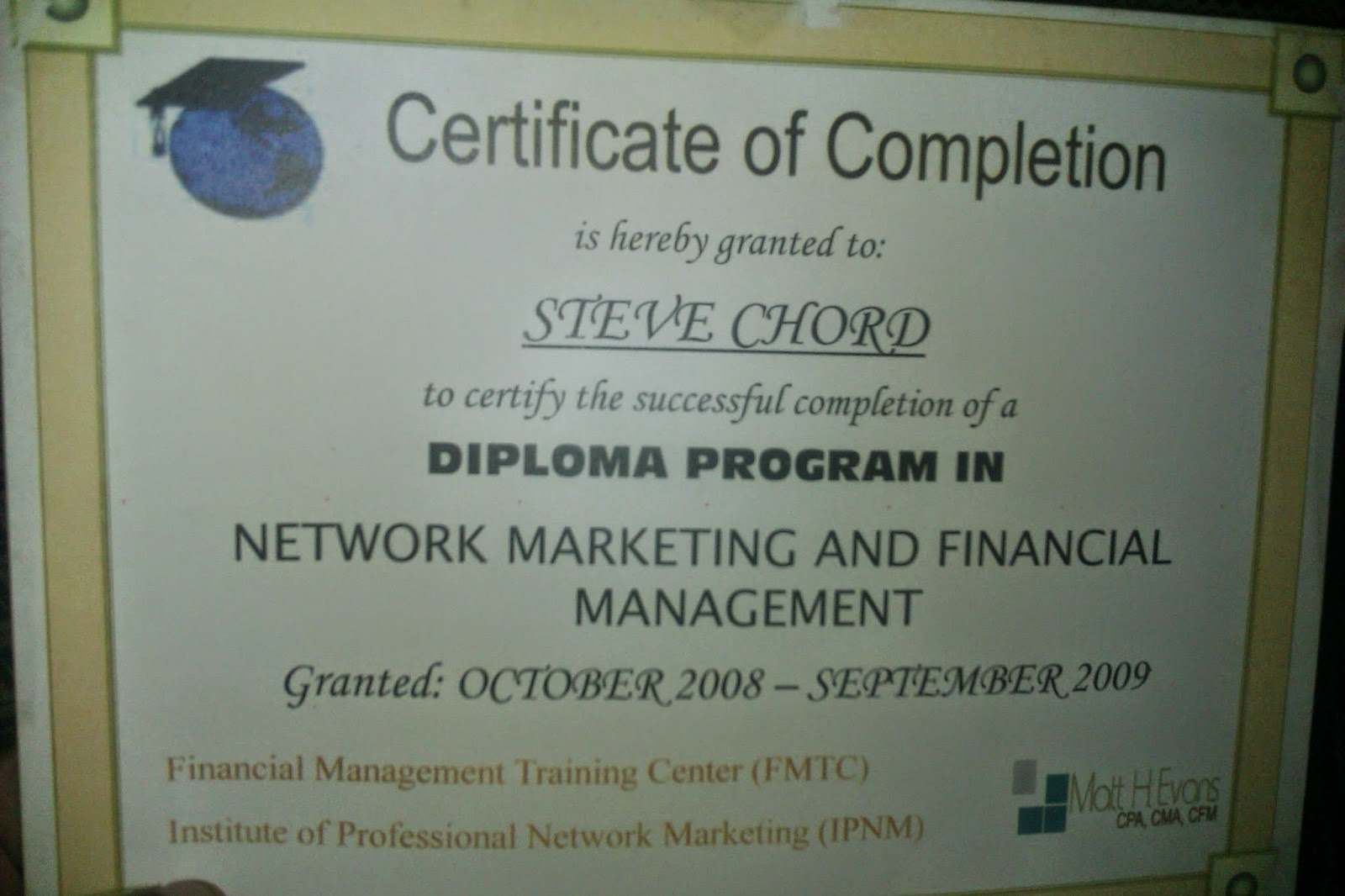Diploma in Marketing and Financial Management Home