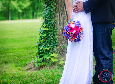 Colorful Compact Bridal Bouquet  - Mokara Floral Design