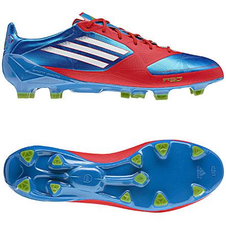 Adidas F50 adizero miCoach azul y roja
