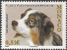 2010年モナコ公国 オーストラリアン・シェパードの切手