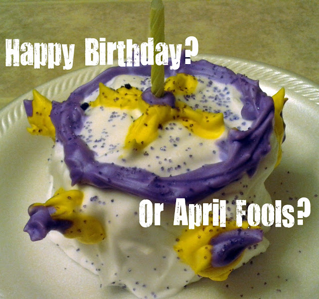 April Fool's Trick Ideas Pretend Play Birthday Cake for Preschoolers Activity Shaving Cream