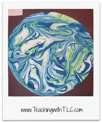 Teaching With TLC Shows How To Make Them They Look Easy Do Only Shaving Cream And Blue Green Paint Here Are Some FABULOUS Earth Day