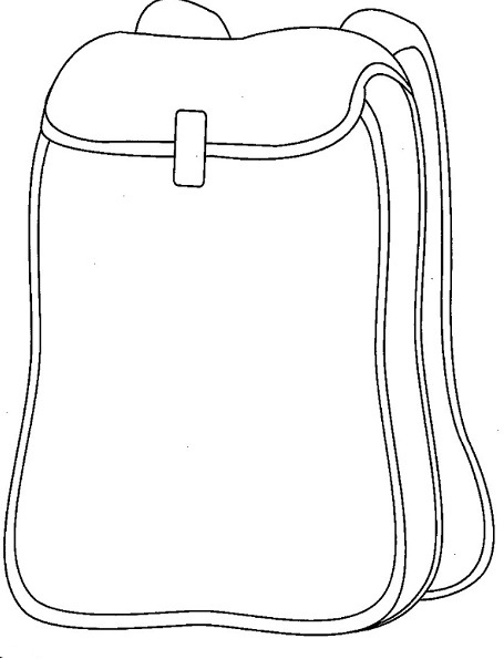 Maze coloring pages printable for Backpack coloring page