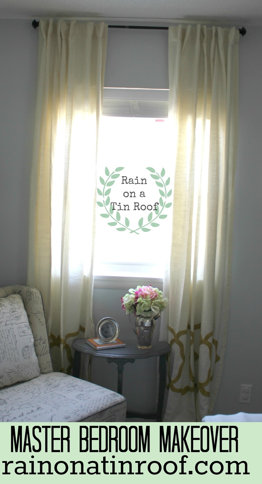 master bedroom makeover series window treatments