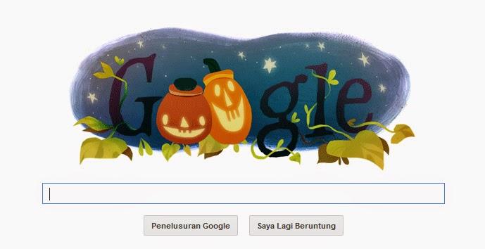 Google doodle hari ini hallowen