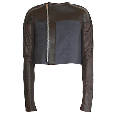 rick owens limo leather cropped jacket