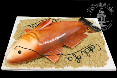 hand carved redfish grooms cake