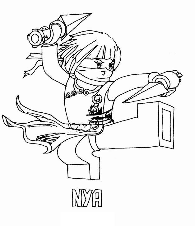 Lego ninjago coloring pages rebooted