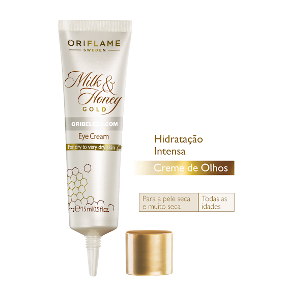 Creme de Olhos Milk & Honey Gold da Oriflame