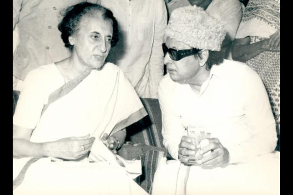 M.G. Ramachandran with Indira Gandhi