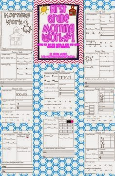 http://www.teacherspayteachers.com/Product/First-Grade-Common-Core-Morning-Work-Literacy-and-Math-1st-Month-297277