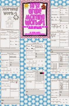 http://www.teacherspayteachers.com/Product/First-Grade-Common-Core-Morning-Work-Literacy-and-Math-1st-Month-297277