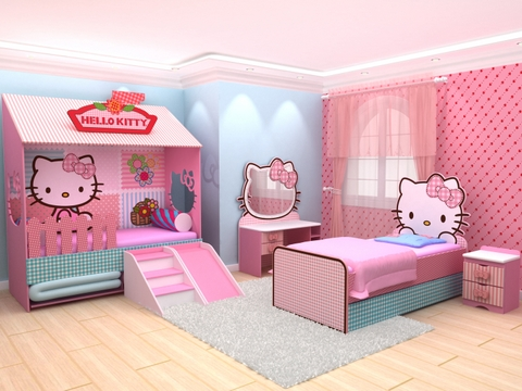 Especial kitty bedrooms more hello kitty bedroom decorating ideas here
