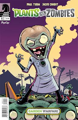 Cover of Plants vs Zombies: Garden Warfare #1, courtesy of Dark Horse Comics