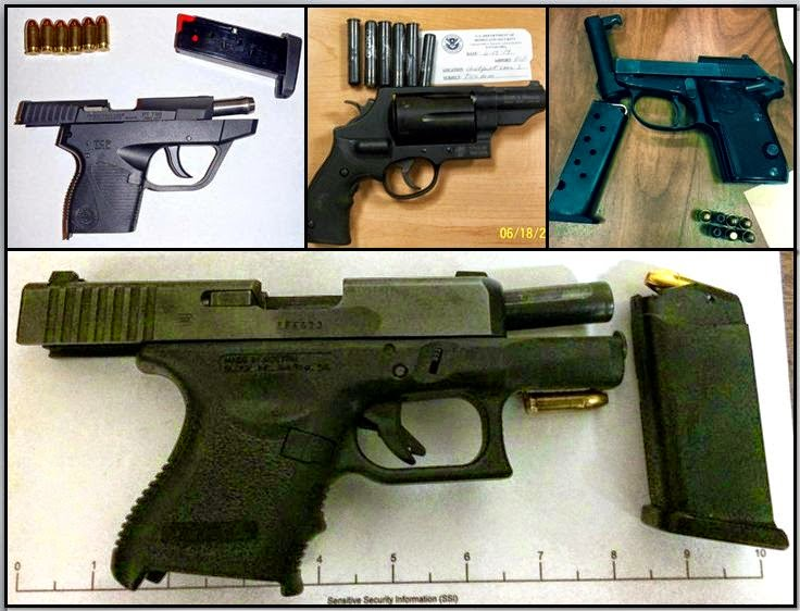 Guns Discovered at (L-R /T-B)ECP, ECP, ATL, and SAT