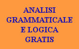 GRAMMATICA ANALISI GRAMMATICALE
