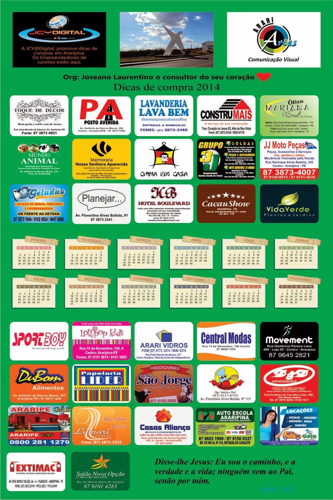 DICAS DE COMPRAS EM ARARIPINA 2014