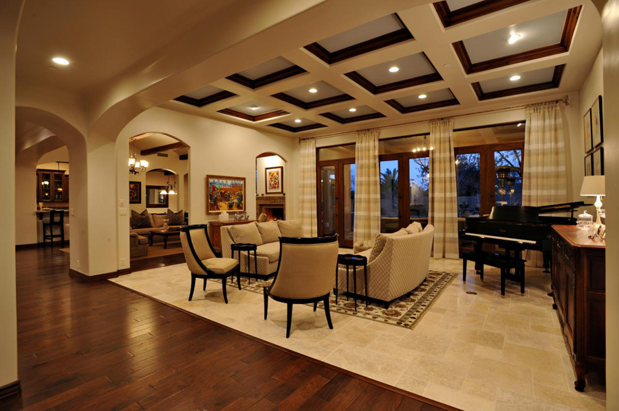 Ceiling designs - Woodwork design for living room ...