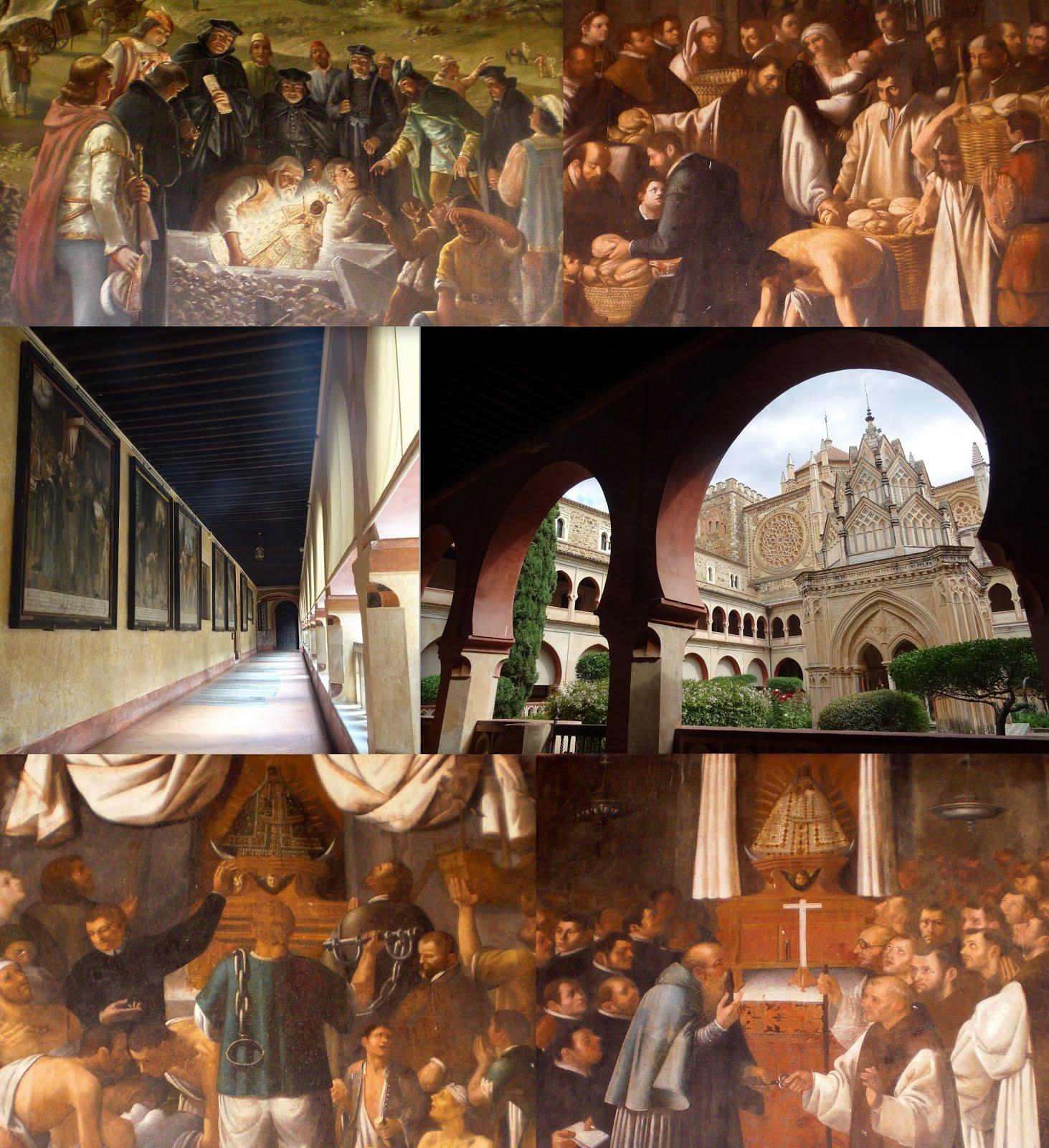 Lienzos de los milagros del claustro mudéjar del Real Monasterio de Guadalupe