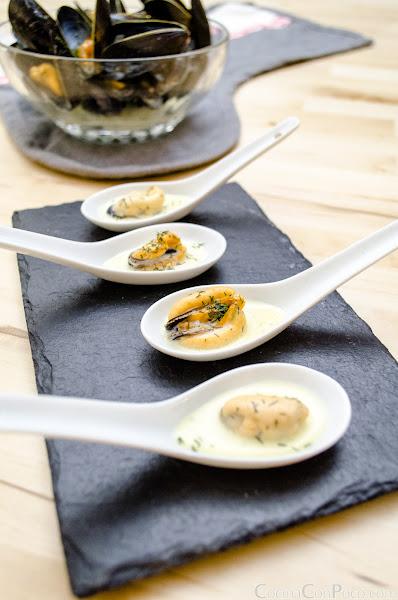 Mejillones con nata - Receta facil