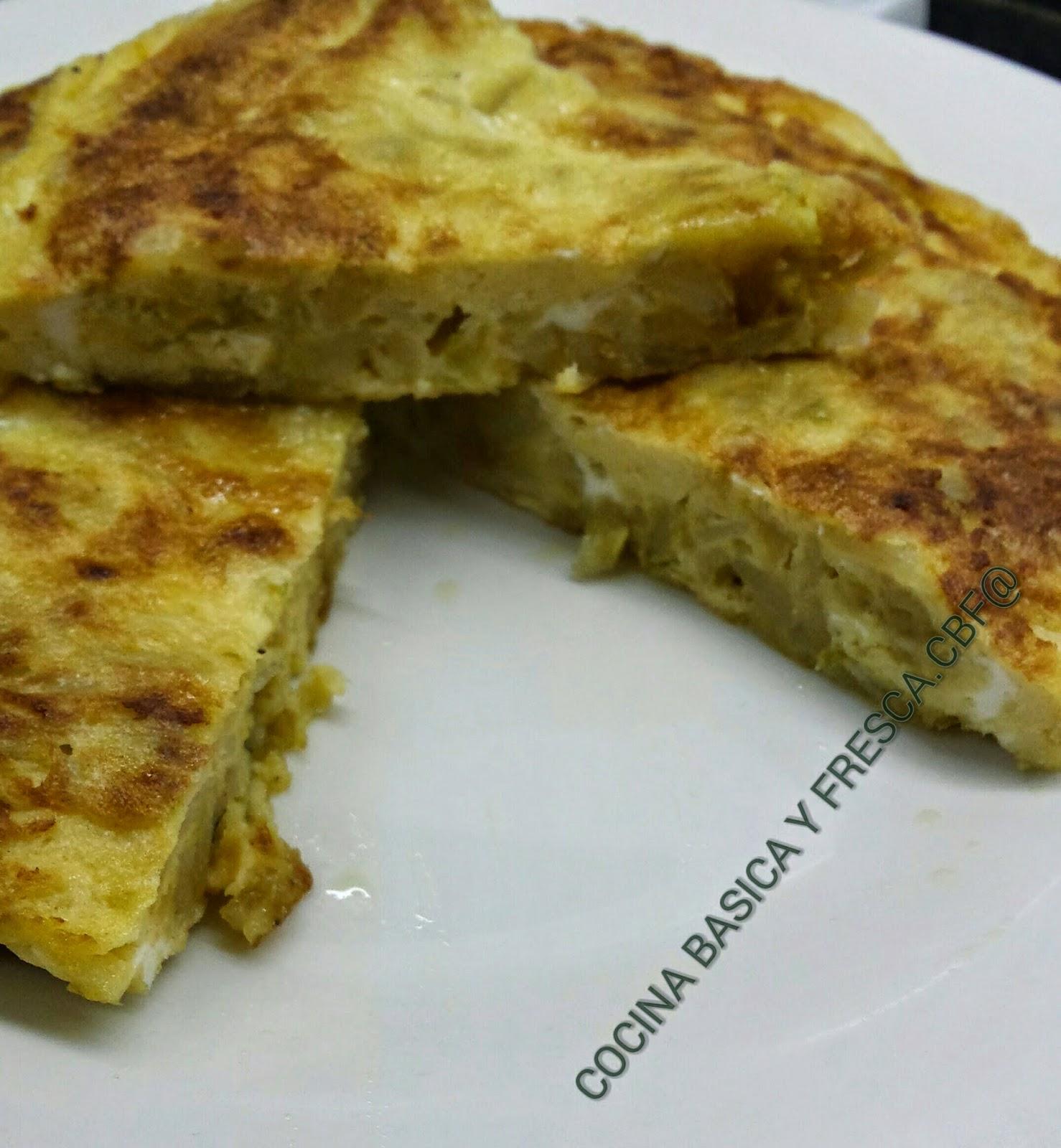 Cocina casera y rapida tortilla de patatas con cebolla y - Tortilla de calabacin y cebolla ...