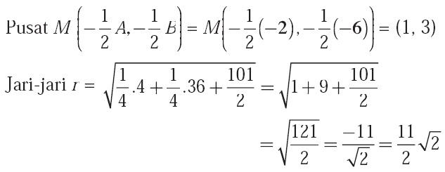 Jari jari r, Posisi Titik dan Garis, Pembahasan, Jawaban, Matematika