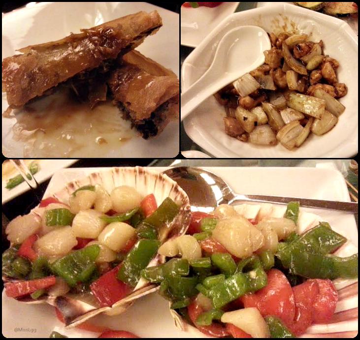 vieras, rollito de pato, salteado chop suey Restaurante chino mey-mey Valencia
