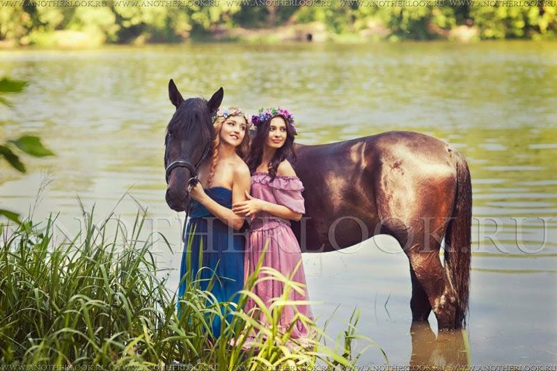 Фотосессия с лошадью в воде