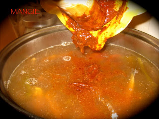 Majado al caldo de gachas pimentón