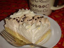 konkurs kawowe wariacje , przepis uczestnika , ciasto mgielka z pianką waniliowo kawową , inka , kawa zbożowa , deser