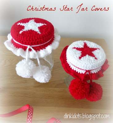 http://dinkidots.blogspot.com/2013/11/free-tutorial-christmas-star-jar-covers.html