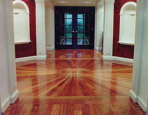 Modern Home Interior Design Wood Flooring Texture Dark Laminate