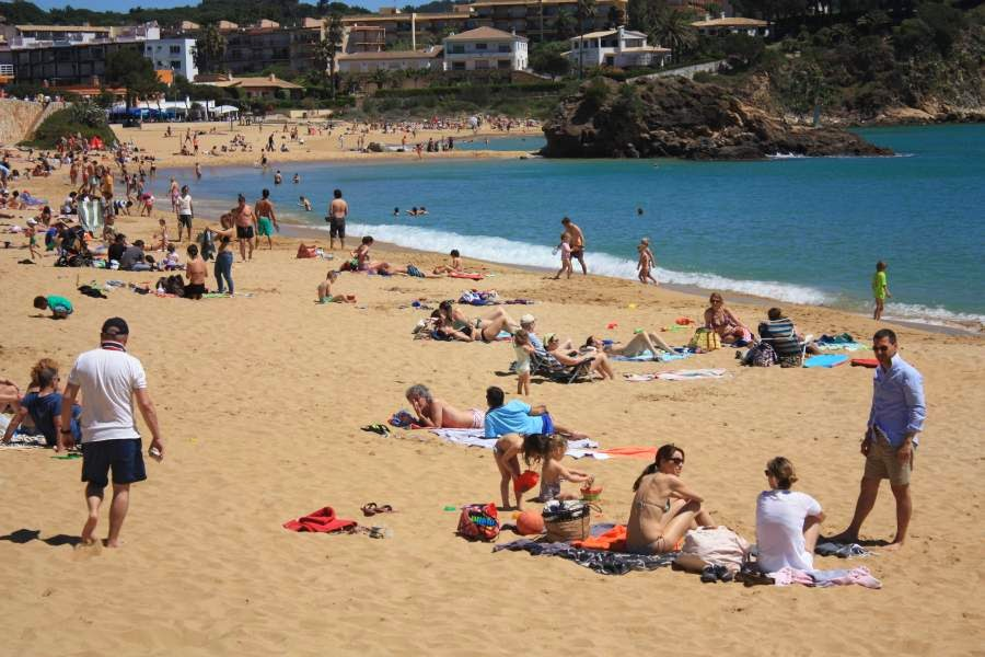 La Fosca beach in Palamos