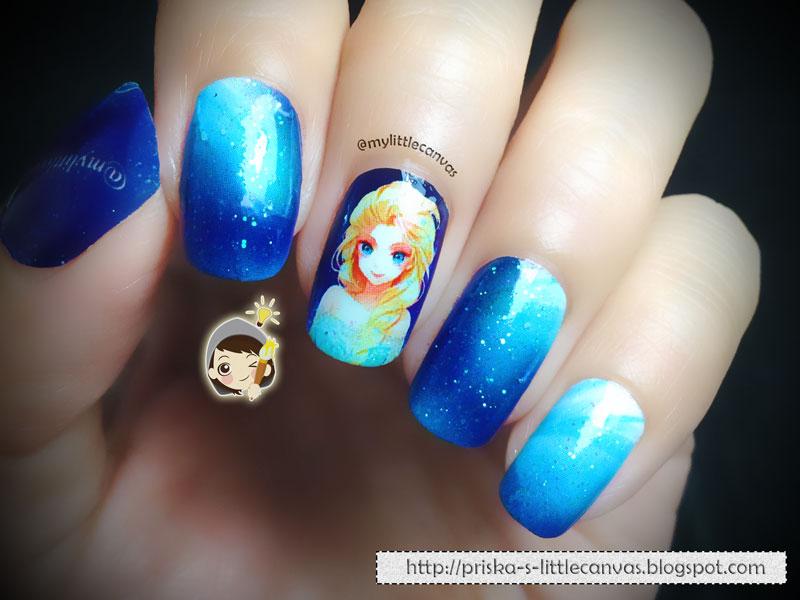 MyLittleCanvas: FROZEN Nail Art: Elsa!