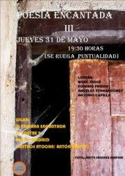 El próximo jueves recito en POESÍA ENCANTADA III. Coordina Arantxa Oteo