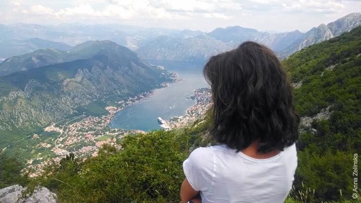 Город Котор и Боко-Которский залив с высоты, Черногория