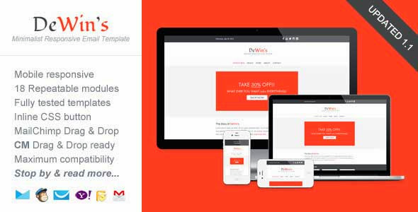 Professional Responsive Email Template – DeWin's