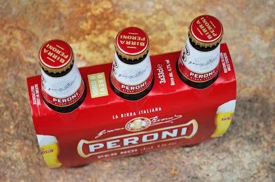 A 3 pack of Peroni beer - la birra Italiana