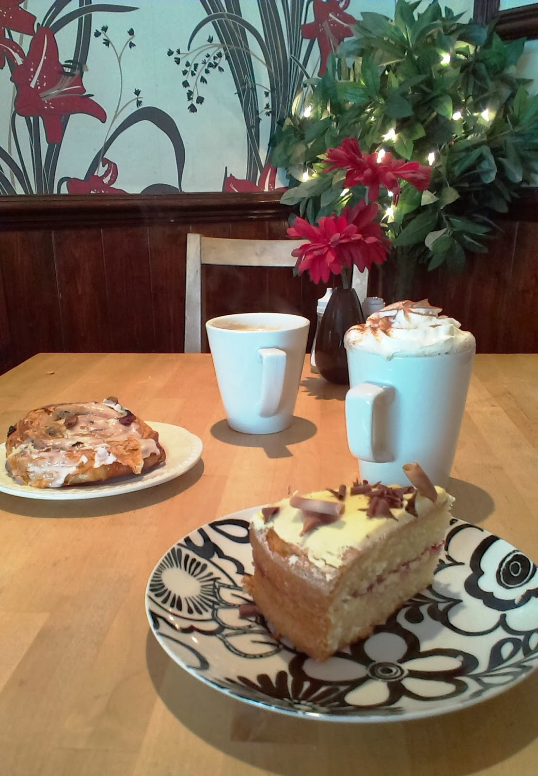 Cake and Hot Chocolate