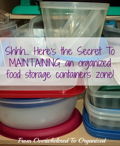 The Secret for Organizing Food Storage Containers so They Stay