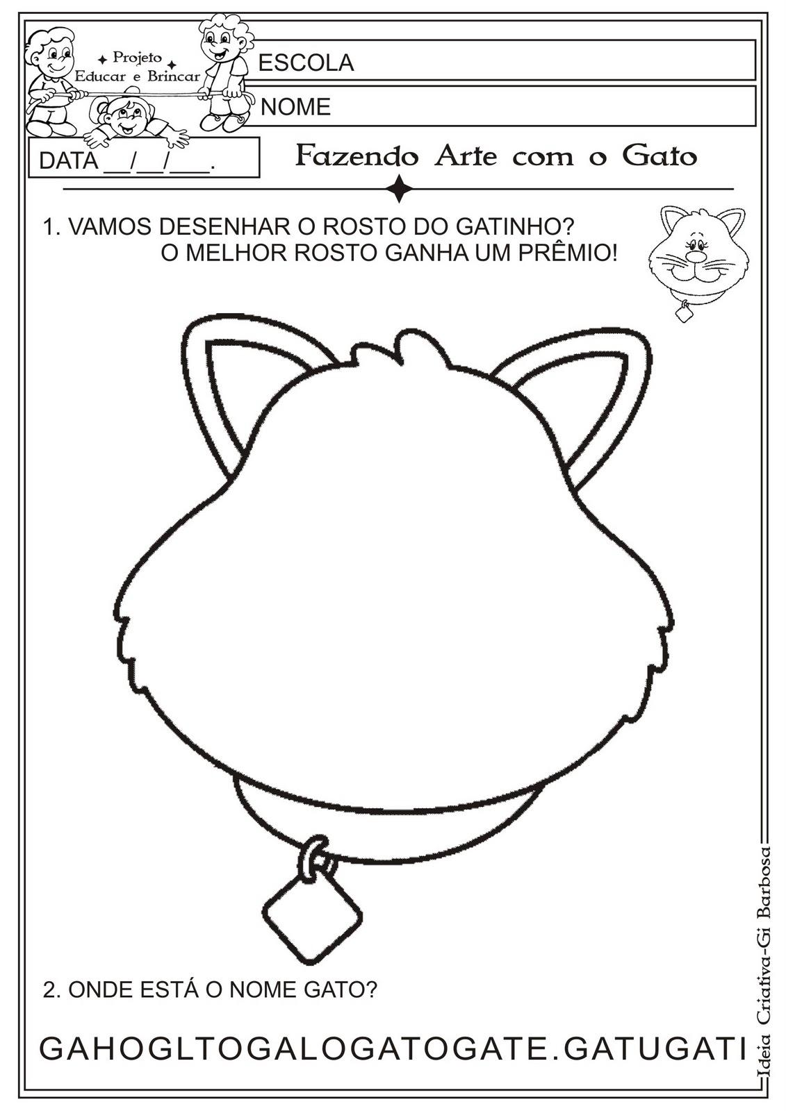 Favoritos Atividade Cantiga de Roda Atirei o Pau no Gato/ Fazendo Arte  WJ72