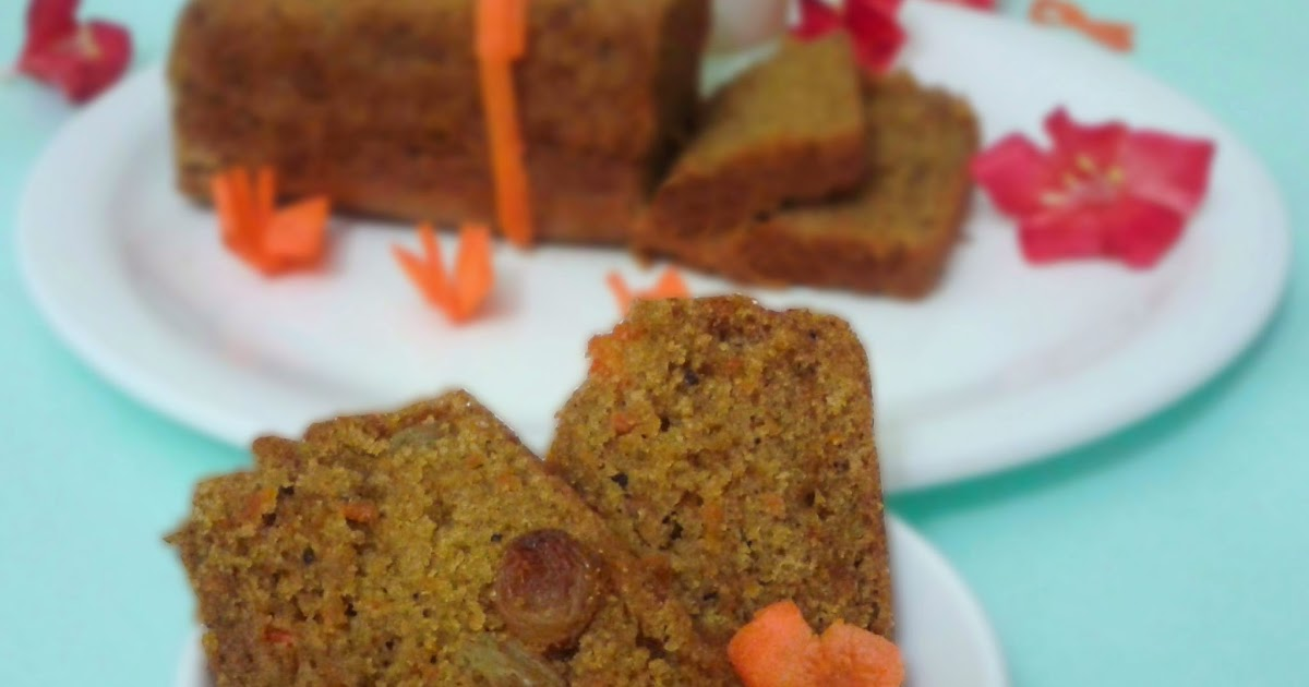 Eggless Carrot Cake With Olive Oil