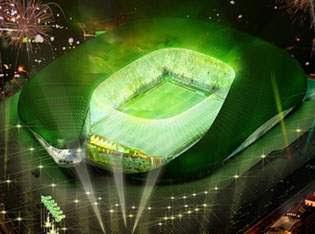 Stadion Unik Berbentuk Buaya Raksasa