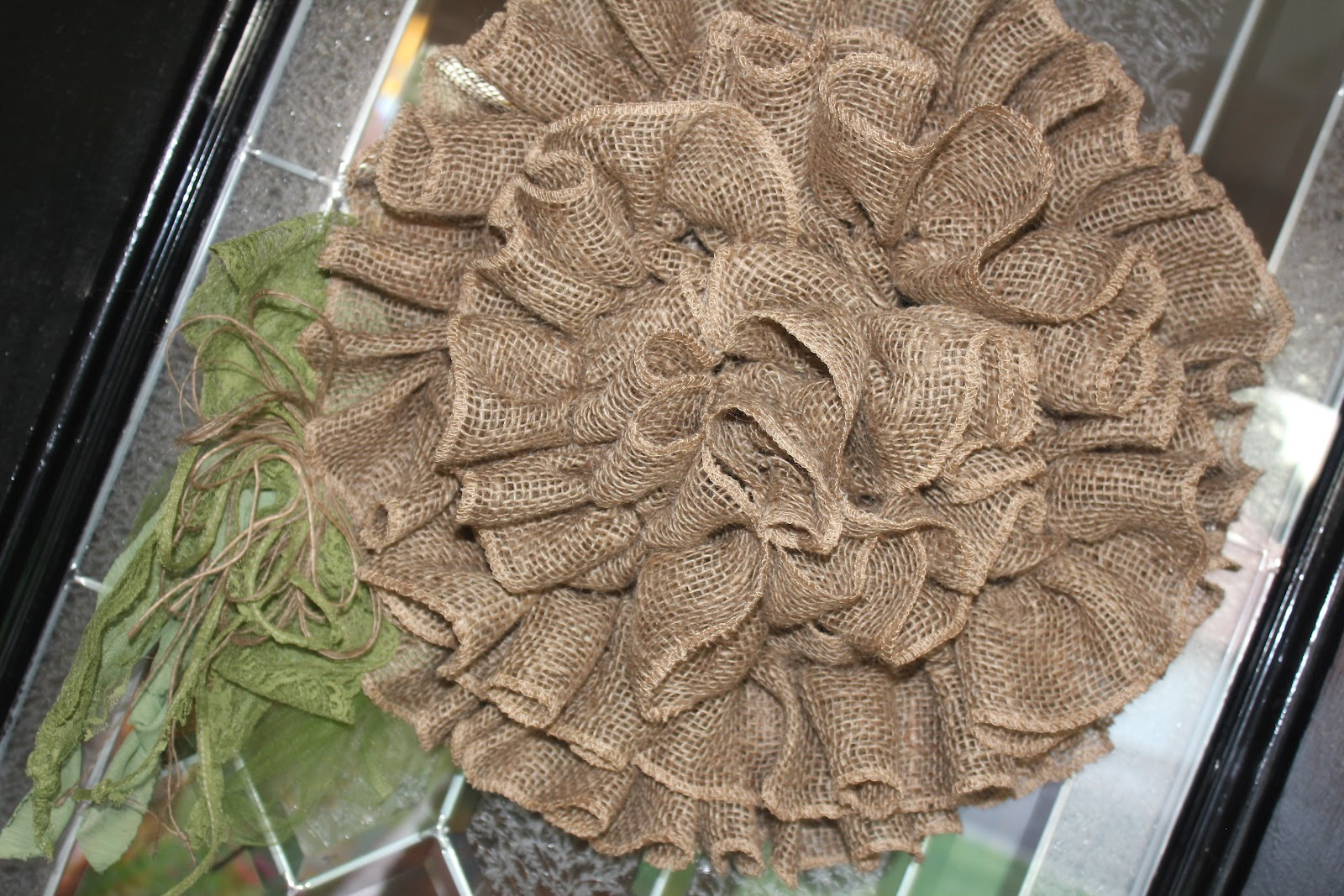 My Sister s Crazy GIANT BURLAP DOOR FLOWER