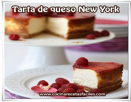 Recetas de postres y helados, tarta de queso new york
