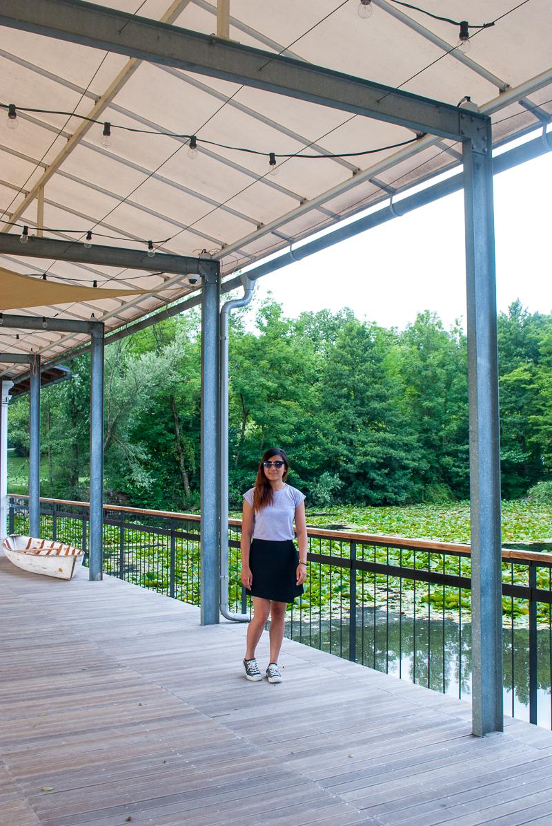 a cafe beside the pond in a park in ljubljana, slovenia