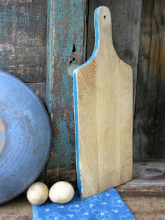 bread board with original blue paint