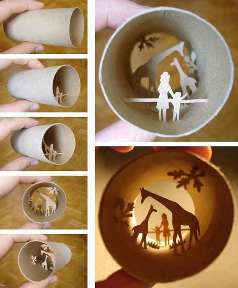 Frosting on the animal cracker amazing toilet paper roll art for Painting toilet paper rolls