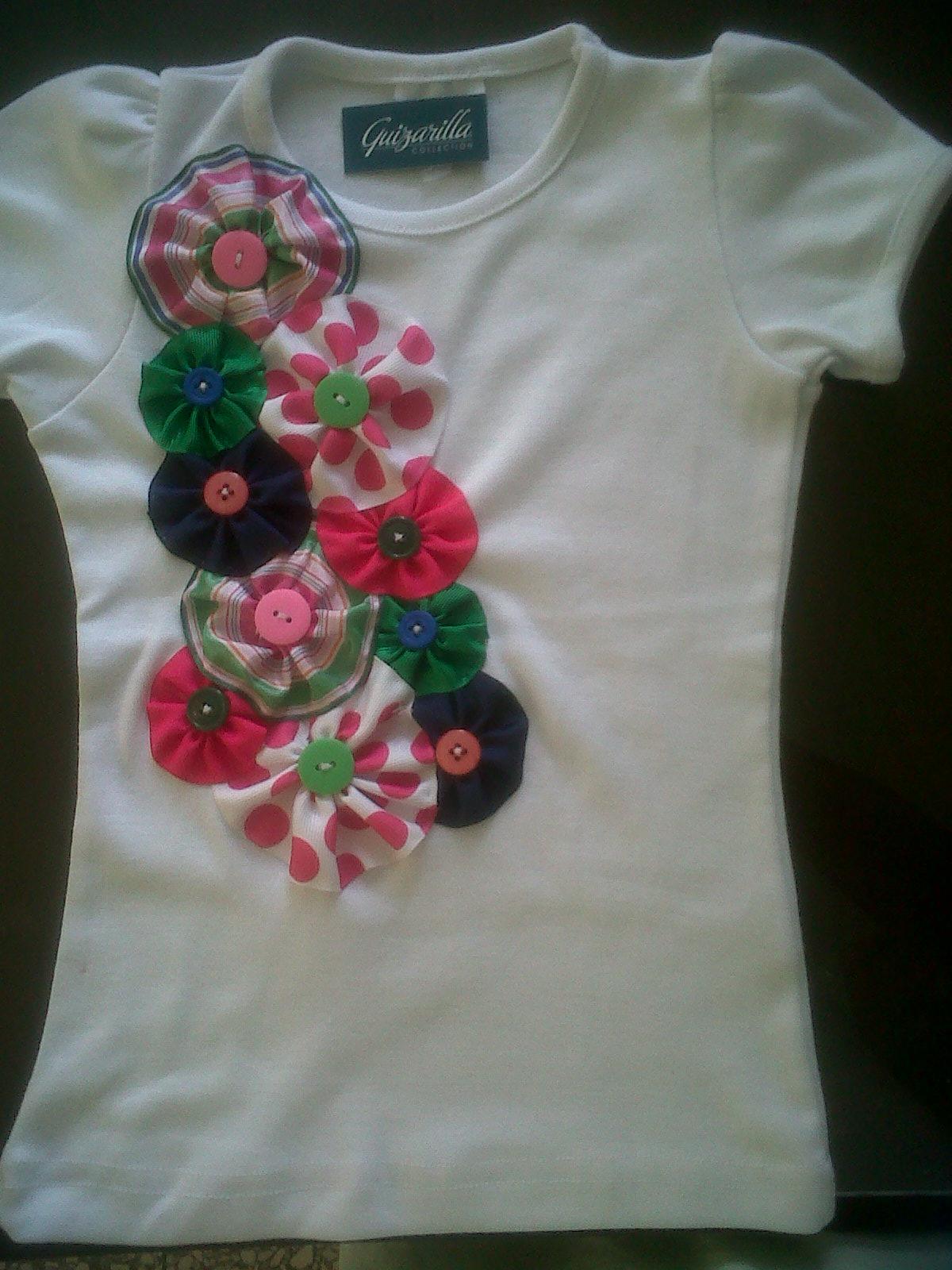 Guizarilla Collection. 1: Tshirts decorados para ninas